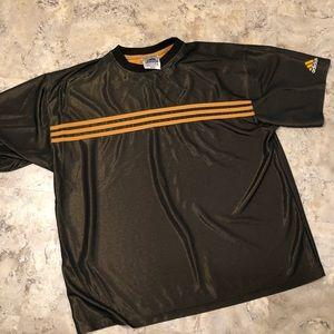 Vintage Adidas Mesh Jersey Shirt Brown Orange XL